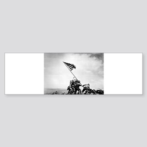 Iwo Jima, raising the flag Bumper Sticker