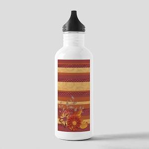 Burnt Orange Floral St Stainless Water Bottle 1.0L