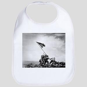 Iwo Jima, raising the flag Bib
