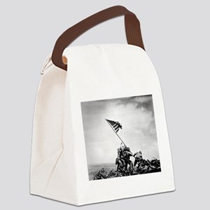 Iwo Jima, raising the flag Canvas Lunch Bag