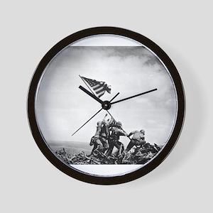Iwo Jima, raising the flag Wall Clock