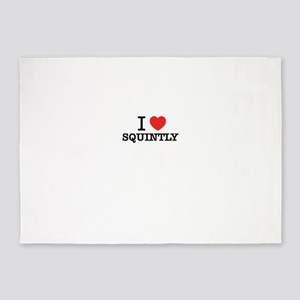 I Love SQUINTLY 5'x7'Area Rug