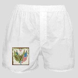 Irish American Flags Harp Shield Boxer Shorts