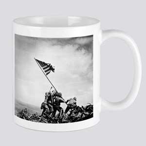 Iwo Jima, raising the flag Mugs