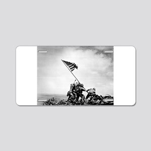 Iwo Jima, raising the flag Aluminum License Plate