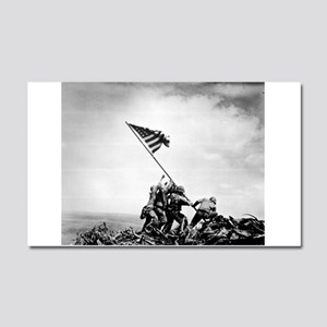 Iwo Jima, raising the flag Car Magnet 20 x 12