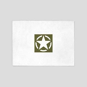 WW2 American star 5'x7'Area Rug
