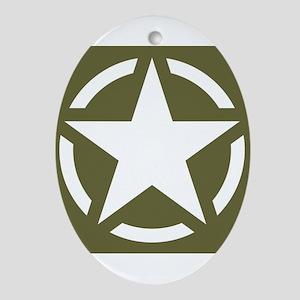 WW2 American star Oval Ornament