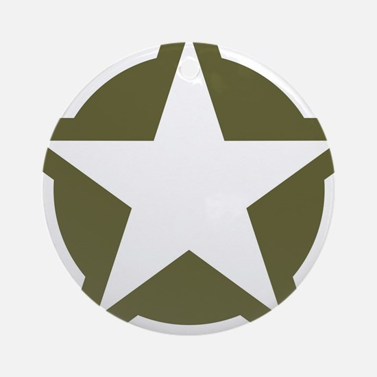 WW2 American star Round Ornament