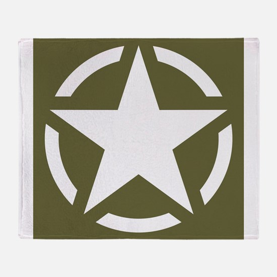WW2 American star Throw Blanket