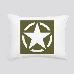 WW2 American star Rectangular Canvas Pillow