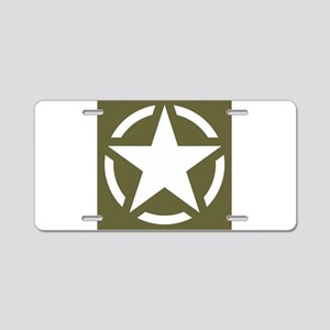 WW2 American star Aluminum License Plate