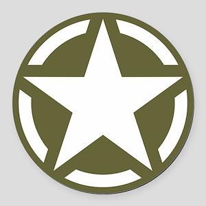 WW2 American star Round Car Magnet