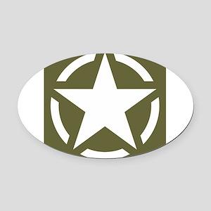 WW2 American star Oval Car Magnet