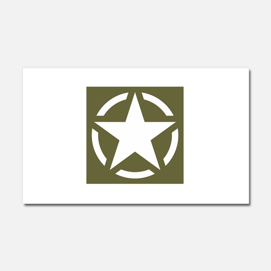 WW2 American star Car Magnet 20 x 12