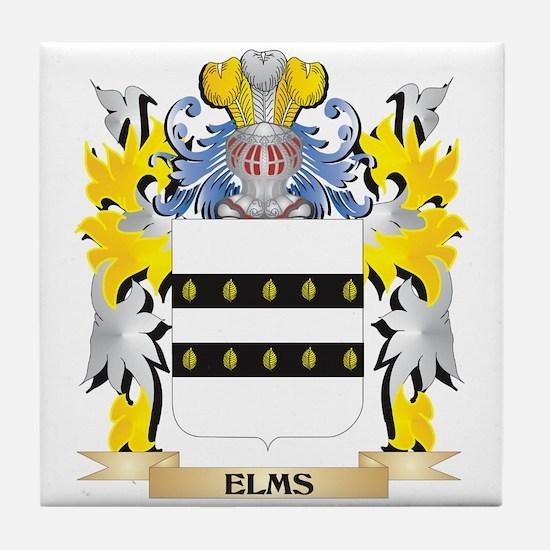 Elms Coat of Arms - Family Crest Tile Coaster