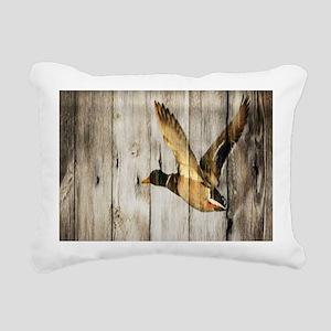 western barnwood wild du Rectangular Canvas Pillow