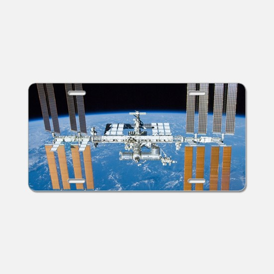 Cute Satellite Aluminum License Plate