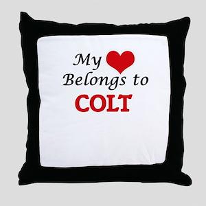 My heart belongs to Colt Throw Pillow