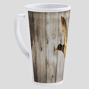 western barnwood wild duck 17 oz Latte Mug