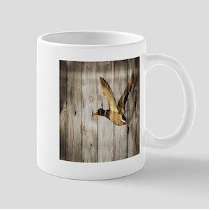 western barnwood wild duck Mugs
