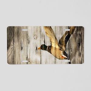 western barnwood wild duck Aluminum License Plate