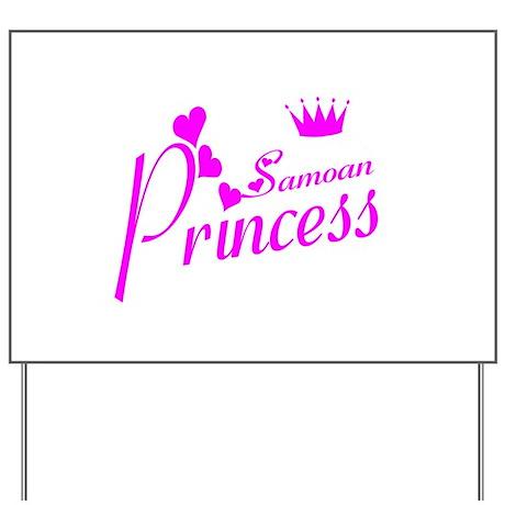Samoan princess Yard Sign