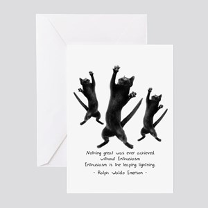 Enthusiastic Cats Greeting Cards (Pk of 10)
