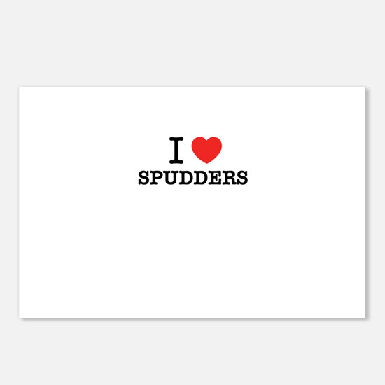 I Love SPUDDERS Postcards (Package of 8)