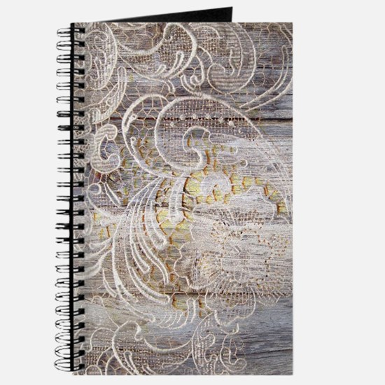 country barn wood lace Journal