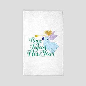 Joyous New Year Area Rug