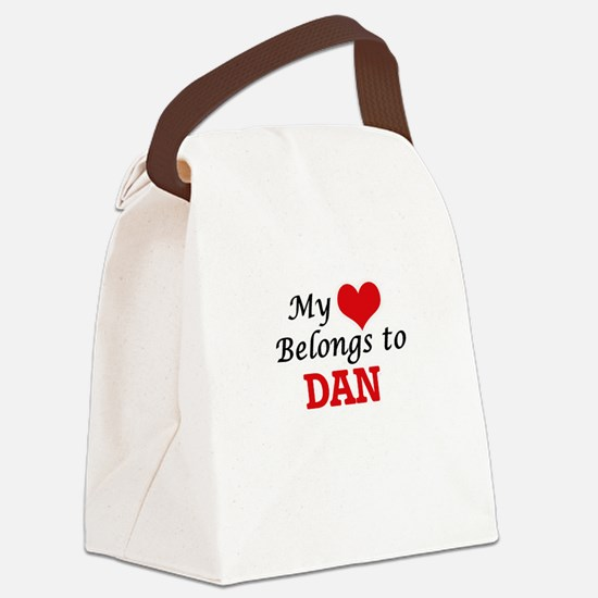 My heart belongs to Dan Canvas Lunch Bag