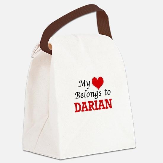 My heart belongs to Darian Canvas Lunch Bag