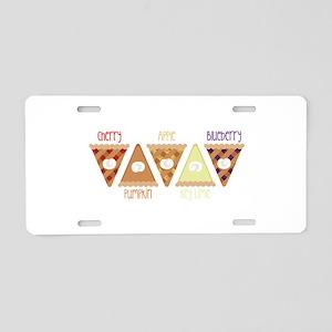 Seasonal Pie Slices Aluminum License Plate