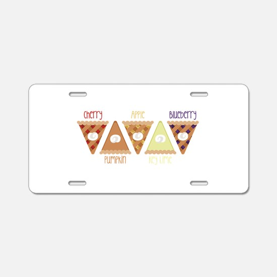 Seasonal Pie Slices Aluminum License Plate