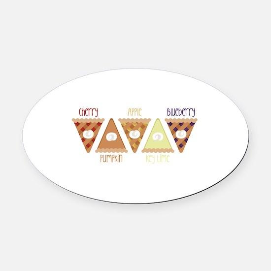 Seasonal Pie Slices Oval Car Magnet
