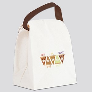 Seasonal Pie Slices Canvas Lunch Bag