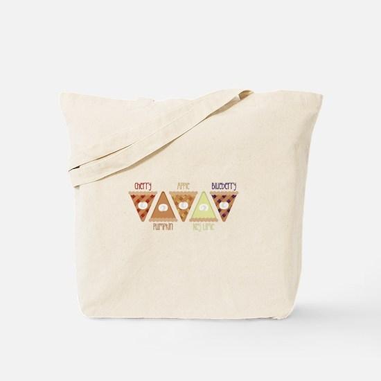 Seasonal Pie Slices Tote Bag