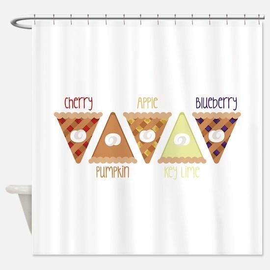 Seasonal Pie Slices Shower Curtain