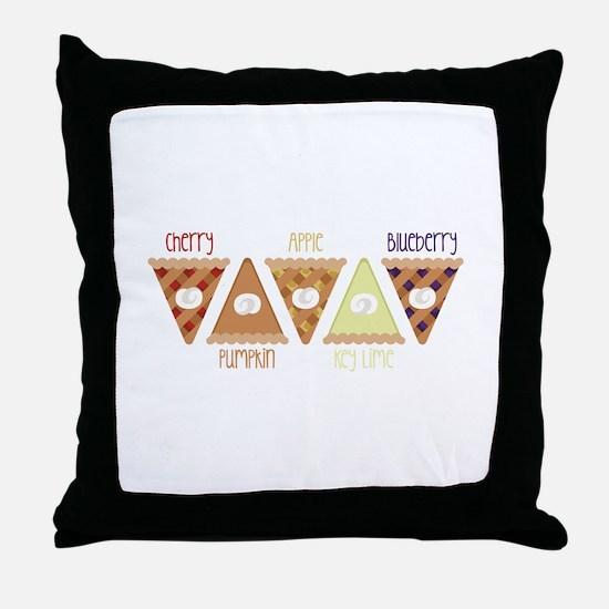 Seasonal Pie Slices Throw Pillow