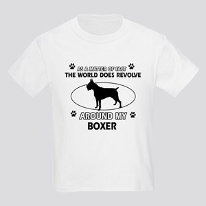 Boxer Dog Awesome Designs Kids Light T-Shirt
