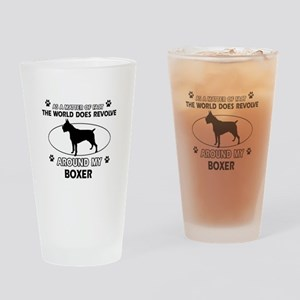 Boxer Dog Awesome Designs Drinking Glass
