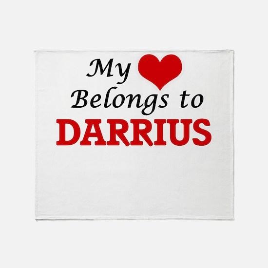 My heart belongs to Darrius Throw Blanket