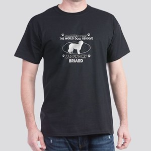Briard Dog Awesome Designs Dark T-Shirt