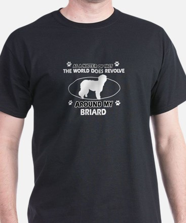 Briard Dog Awesome Designs T-Shirt