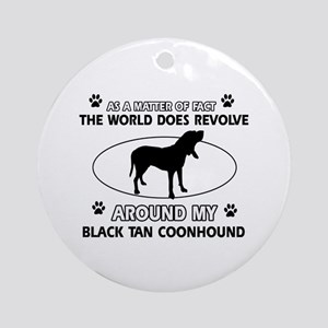 Black and Tan Coonhound Hound Dog A Round Ornament