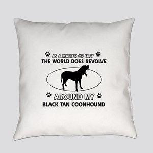 Black and Tan Coonhound Hound Dog Everyday Pillow
