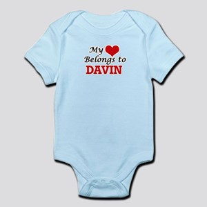 My heart belongs to Davin Body Suit
