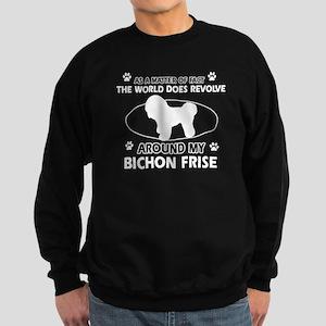 Bichon Frise Dog Awesome Designs Sweatshirt (dark)