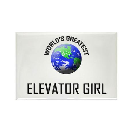 World's Greatest ELEVATOR GIRL Rectangle Magnet